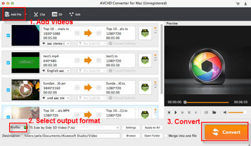 AVCHD to Apple ProRes converter
